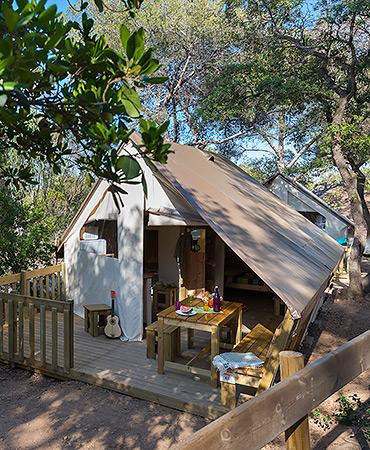 Camping Giens Zelthütte FAMILIE